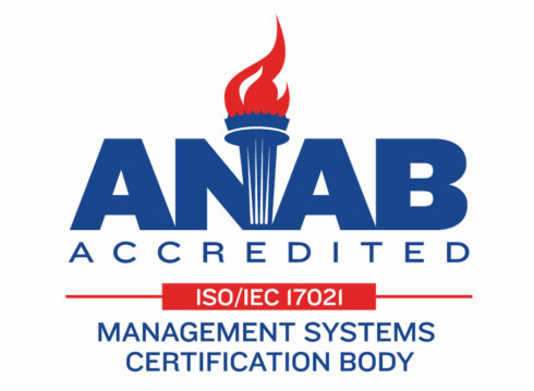ANAB Accredited ISO/IEC 17021-1 Management System Certification Body Logo